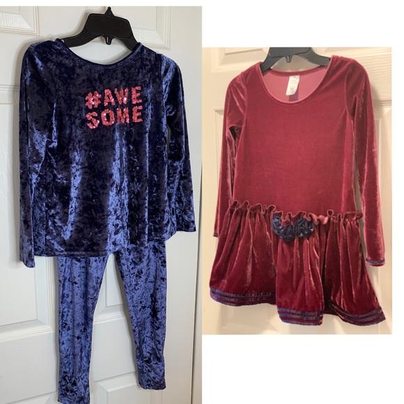 Girls velvet sets bundle